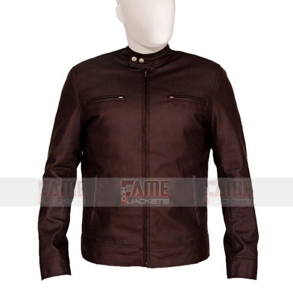 Mens Casual Brown Cotton Jacket
