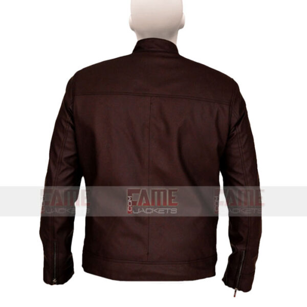 Brown Cotton Bomber Jacket For Men On Sale