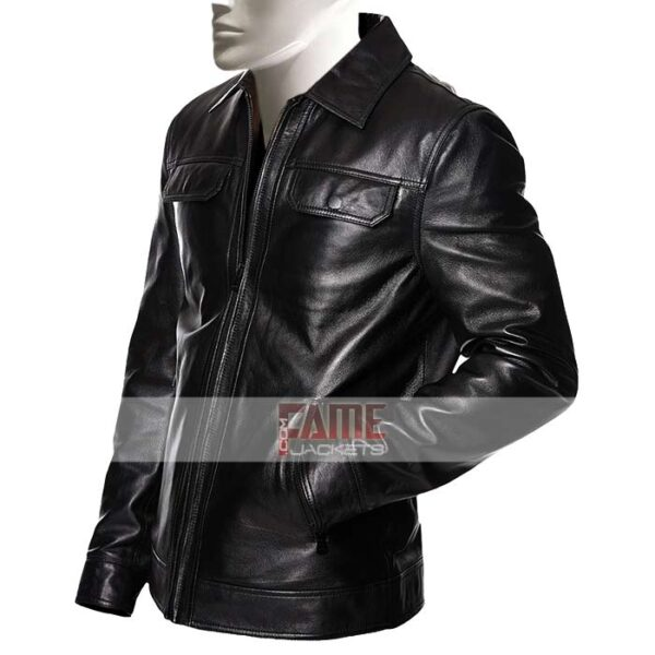 Mens Black Leather Jacket On Sale