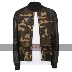 Mens Military Style Bomber Jacket