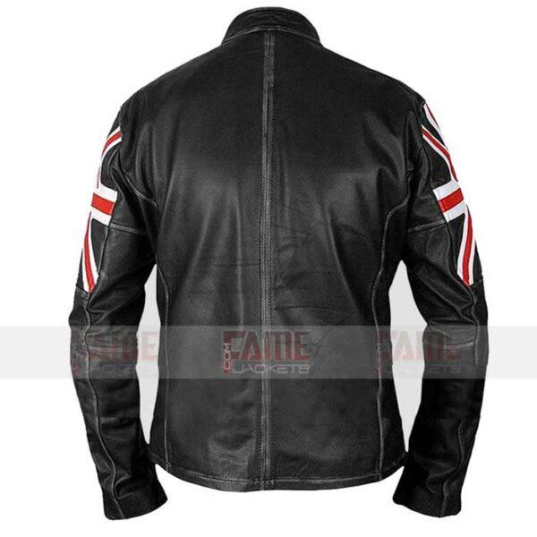 Buy UK Flag Black Leather Cafe Racer