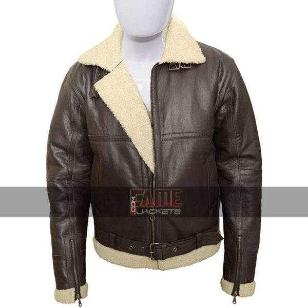 Mens b3 Bomber Fur Lining Winter Jacket