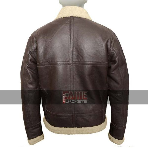 Mens Winter b3 Fur Lining Leather Jacket