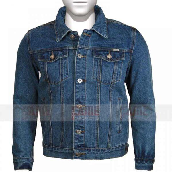 New Mens Denim Trucker Vintage Classic Retro Jacket