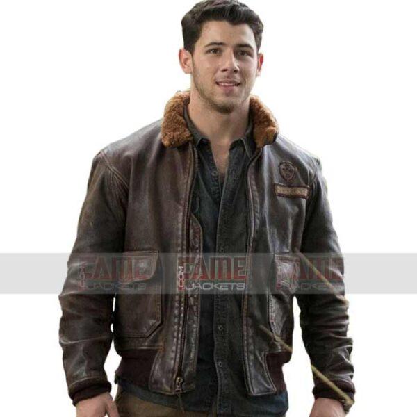 Nick Jonas Fur Collar Winter Jacket For Men