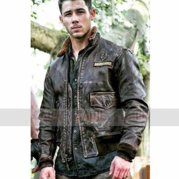 Nick Jonas Real Leather Winter Jacket For Men
