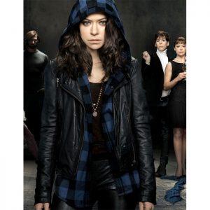 Tatiana Maslany Orphan Slim Fit Biker Jacket