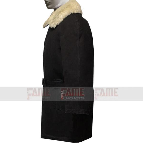 USSR Warm Officers Military Black Wool Winter Coat