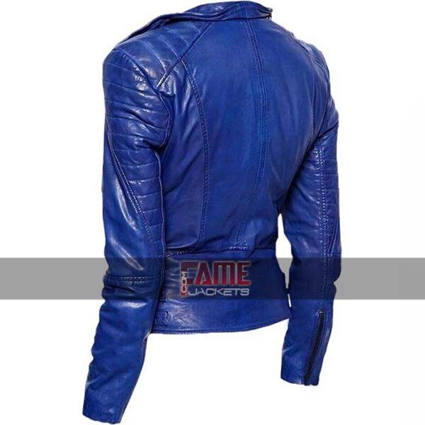 ladies motorcycle slim fit leather jacket