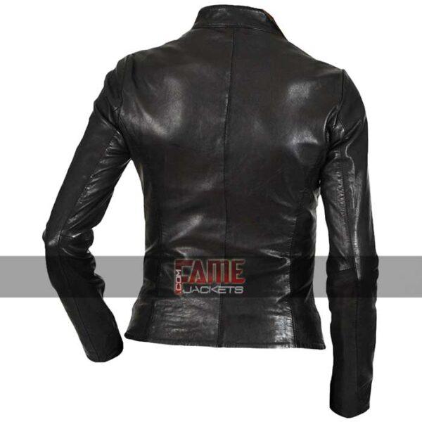 Ladies Slim Fit Biker Leather Jacket
