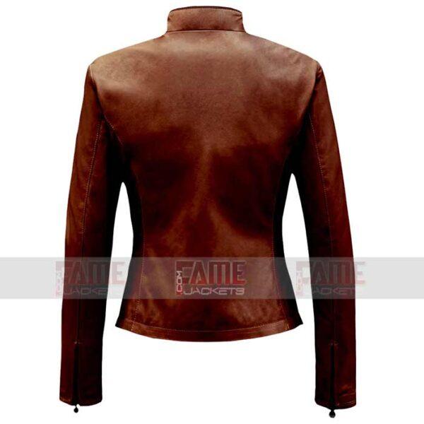 Ladies New Style Brown Suede Leather Jacket