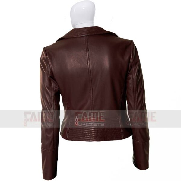 Women Brown Biker Leather Jacket