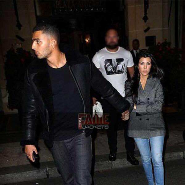 Mens b3 Black Leather Shearling Jacket