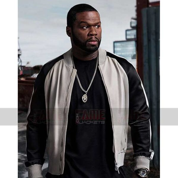 50 Cent Kanan Power Season Black And White Leather Jacket