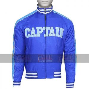 Mens Blue Satin Bomber Jacket On Sale