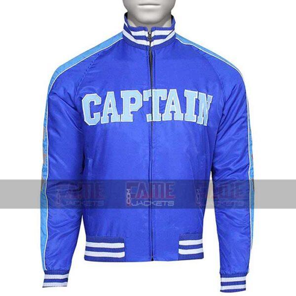 Mens Blue Satin Bomber Jacket On Sale
