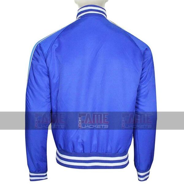 Captain Boomerang Suicide Squad Blue Satin Bomber Jacket