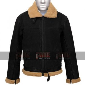 Gents b4 Flying Aviator Black Suede Leather Jacket