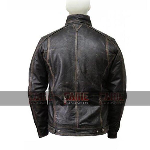 Mens Vintage Cafe Racer Real Brown Distressed Leather Jacket