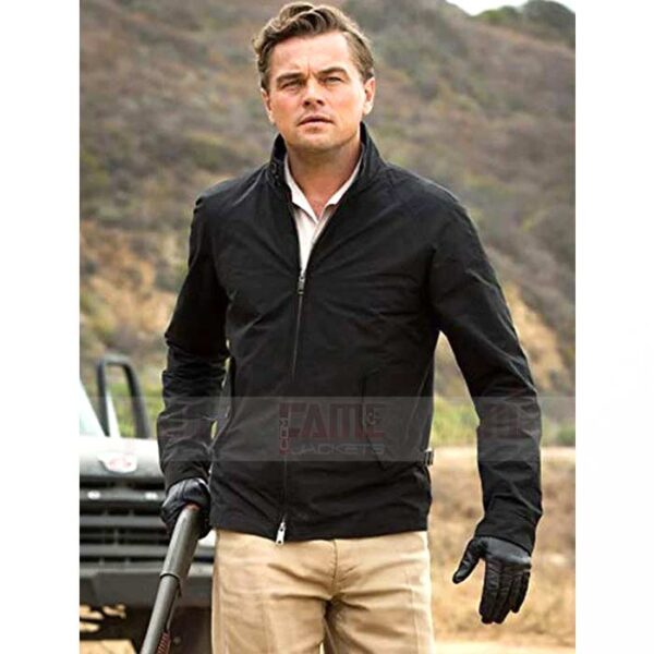 Leonardo Dicaprio Mens Black Cotton Jacket