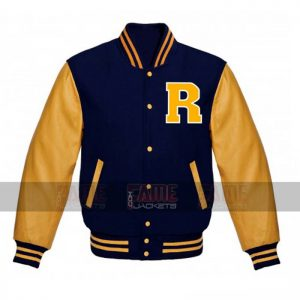 Archie Andrews Varsity Wool And Leather Bomber Jacket