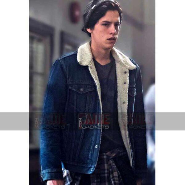 Jughead Jones Blue Denim Fur Lining Jacket Sale