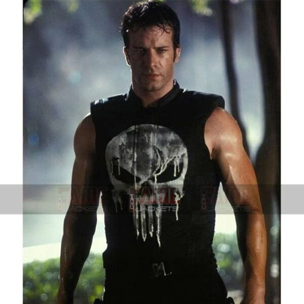 The Punisher Frank Castle Mens Black Vest With Skull
