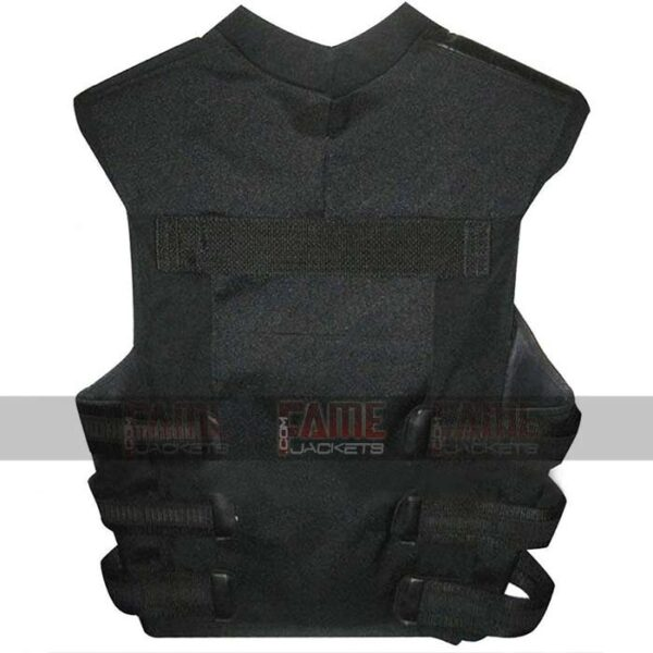 The Punisher Mens Black Vest With Skull
