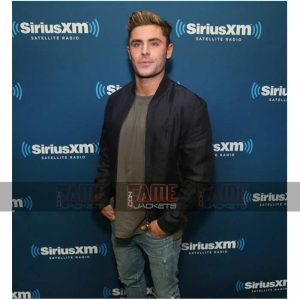 Zac Efron Mens Cotton Bomber Jacket