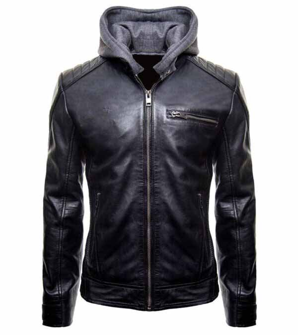 $40 off Sale - Batman Logo Brando Biker Genuine Black Leather Jacket