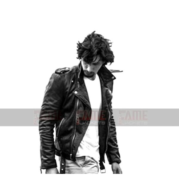 Adam Driver Black Biker Leather Jacket
