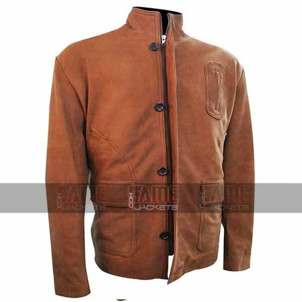 Arrow Stephen Amell Oliver Queen Tan Brown Suede Jacket