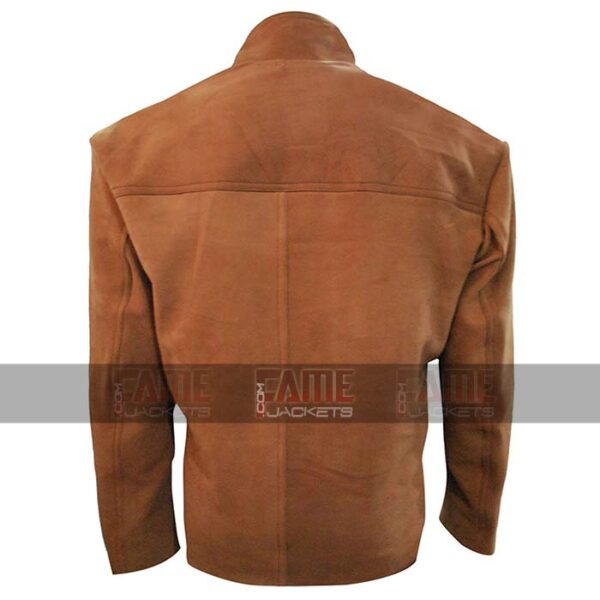 Arrow Stephen Amell Oliver Queen Tan Brown Suede Leather Jacket