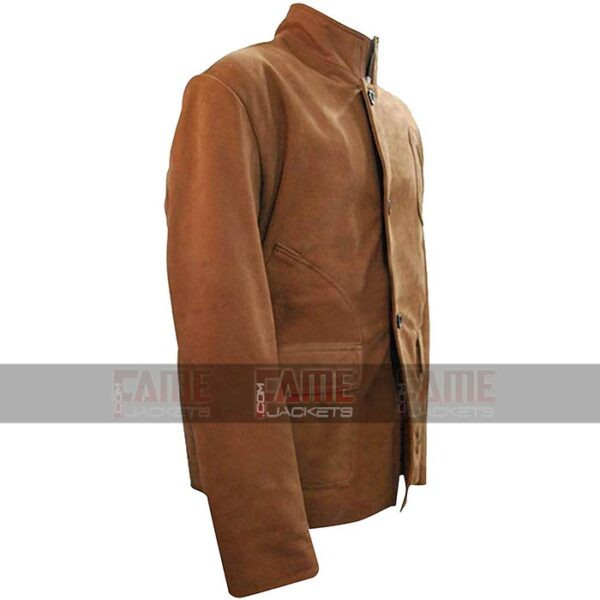 Arrow Stephen Amell Oliver Queen Brown Suede Leather Jacket