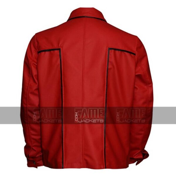 Elvis Presley Red Leather Vintage Bomber Jackets On Sale