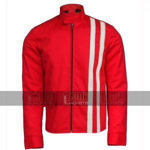 Elvis Presley Speedway Red And White Bomber Jacket