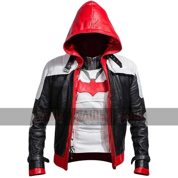 Batman Logo Dark Knight Movie Red Hooded Jacket Sale
