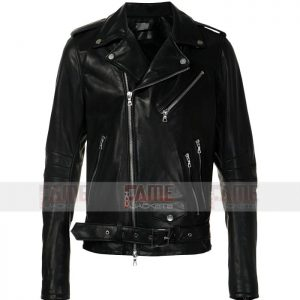 Mens Womens New Style Slim Fit Biker Leather Jacket