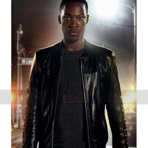 Eric Carter Mens Black Leather Jacket