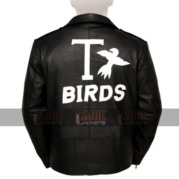 Adult Grease T Birds Moto Black Leather Jacket
