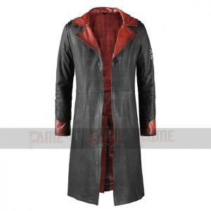 Devil May Cry 5 Dante Black Leather Winter Coat