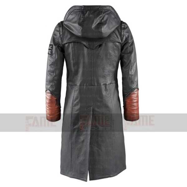 Devil May Cry 5 Dante Black Leather Winter Coat For Men Sale