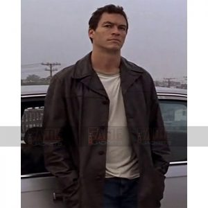 Dominic West The Wire Lambskin Leather Winter Coat