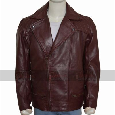 Edge Return Mens Casual Leather Quilted Jacket