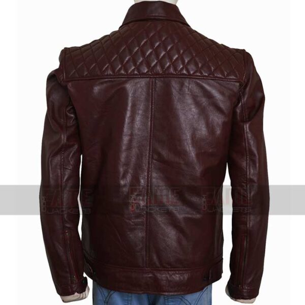 Edge Return Mens Casual Leather Quilted Jacket Sale