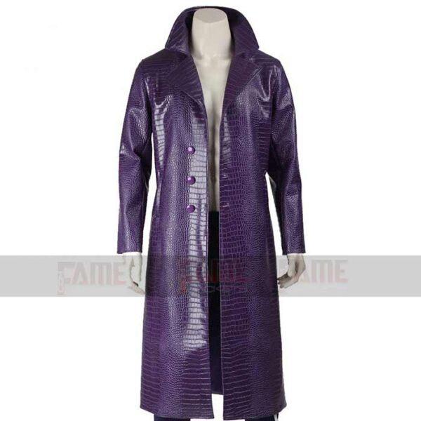 Suicide Squad Jared Leto Purple Trench Coat For Men