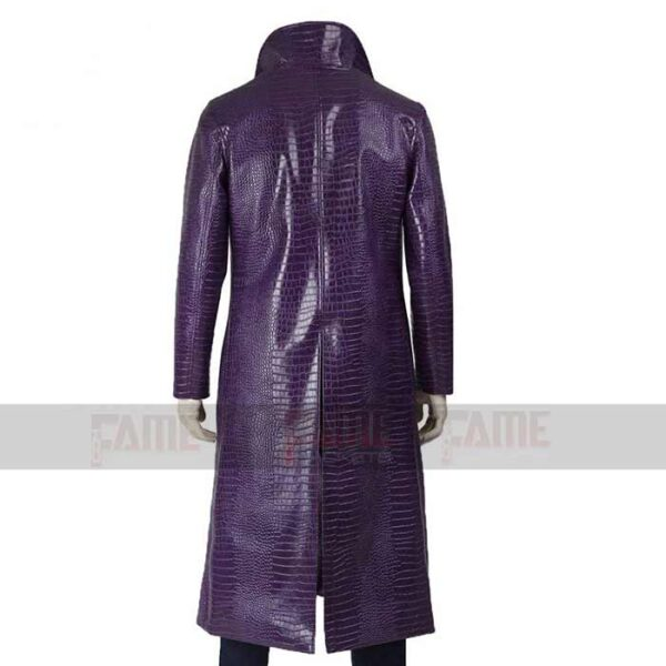 Suicide Squad Jared Leto Purple Trench Coat On Sale