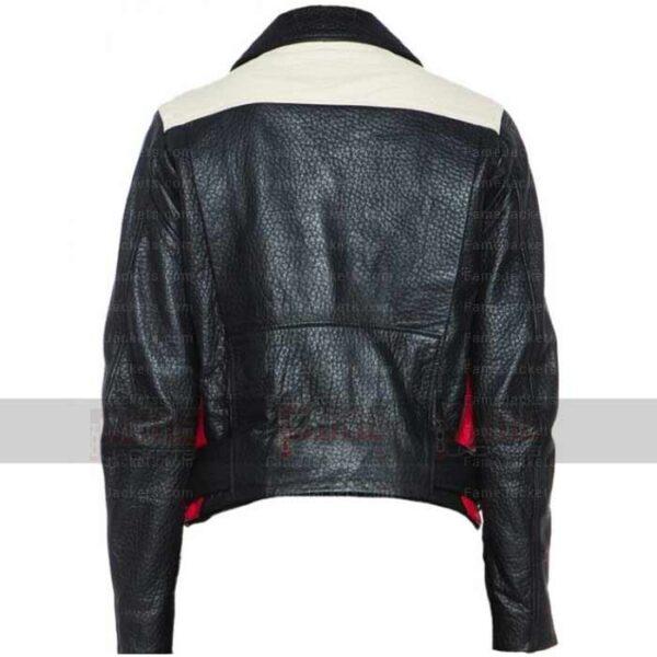 Mens Womens Red Black Biker Leather Jacket
