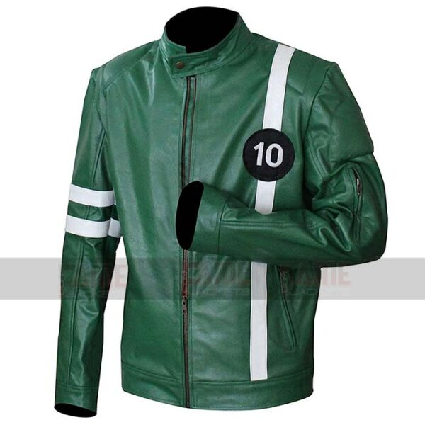 Ben 10 Genuine Leather Green Jacket On Sale