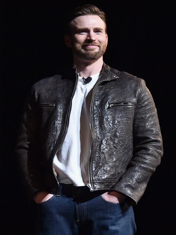 Chris Evans Captain America Brown Leather Jacket